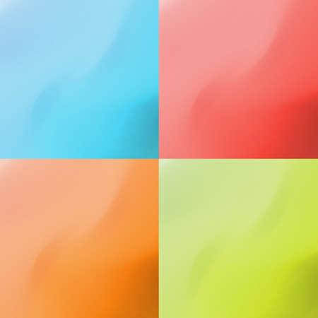 Set of clean modern vector color plastic backgrounds Illustration