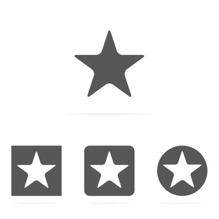 Gray vector set of star symbol icons