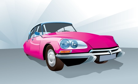 All elements on layers - body, lamps, top, bumpers etc. Vector