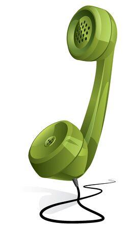cable telefono: Cl�sico - auricular de tel�fono retro