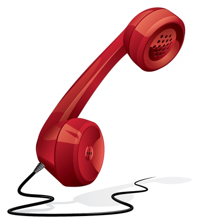 telephone cable: Classic - retro phone handset Illustration