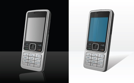 gsm phone: Classic cell phone with numeric keyboard Illustration