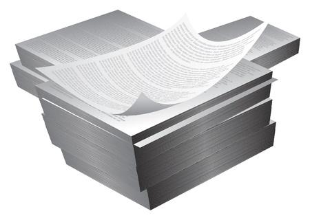 large blocksreams of printed paper Vector