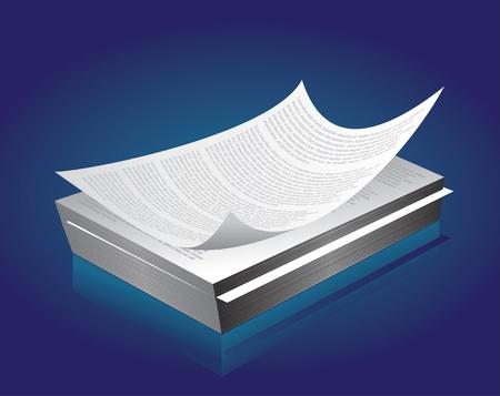 Gedrukt papier in bulk Vector Illustratie
