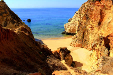 are hidden: Hidden beach near Portimao, Portugal
