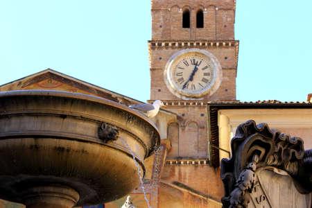 spqr: Piazza Santa Maria in Trastevere - Rome Italy