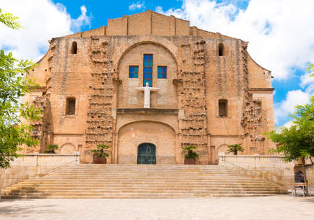 MONT-ROIG DEL CAMP, SPAIN -  JUNE 19, 2017: Church of San Miguel. Copy space for text Stock Photo