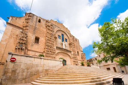 Church of San Miguel in Mont-roig del Camp, Tarragona, Catalunya, Spain. Copy space for text Stock Photo