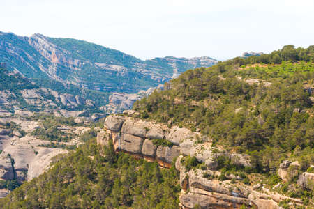 The cliffs in the province of Catalunya, Spain. Copy space for text