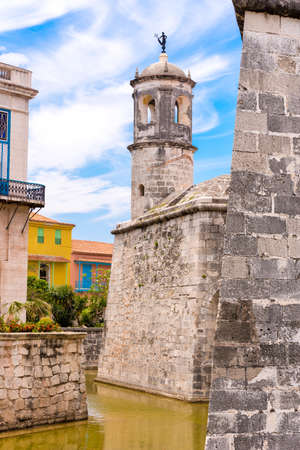 Castillo de la Real Fuerza, Havana, Cuba. Vertical. Copy space Stock Photo - 83801205
