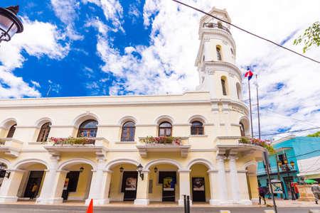 SANTO DOMINGO, DOMINICAN REPUBLIC - AUGUST 8, 2017: View of the building Palacio Consistorial. Copy space for text