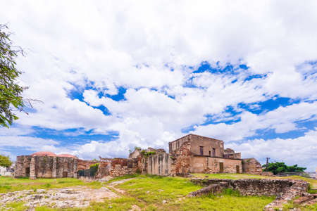 View on ruins of the Franciscan Monastery, Santo Domingo, Dominican Republic. Copy space for text Stock Photo