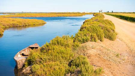 ebro: Ebro Delta estuary and wetlands, Tarragona, Catalunya, Spain.