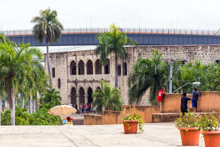 The house of Columbus, the first stone building built in Santo Domingo, Dominican Republic. Copy space for text