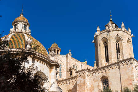 Tarragona Cathedral (Catholic cathedral) on a sunny day, Catalunya, Spain. Copy space for text Stock Photo