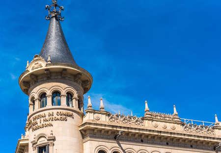 TARRAGONA, SPAIN - SEPTEMBER 17, 2017: Chamber of Commerce of Tarragona. Copy space for text Editorial