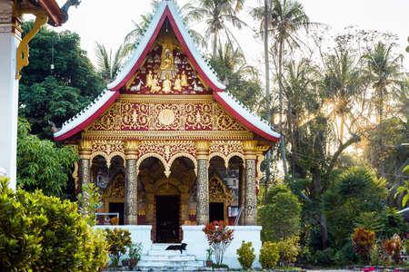 Temple Wat Sensoukaram in Luang Prabang, Laos Stock Photo