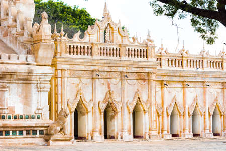 View of the temple building in Bagan, Myanmar. Copy space for text