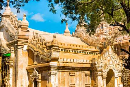 View of the temple building in Bagan, Myanmar. Close-up