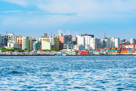 MALE, MALDIVES - NOVEMBER 18, 2016: View of the city of Male -