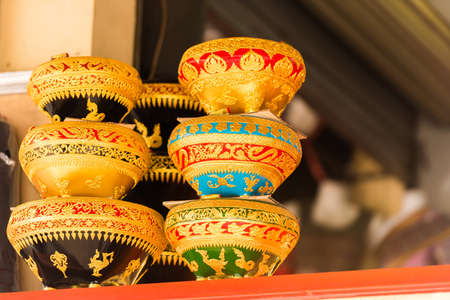 Souvenir bowls, Luang Prabang, Laos. Close-up
