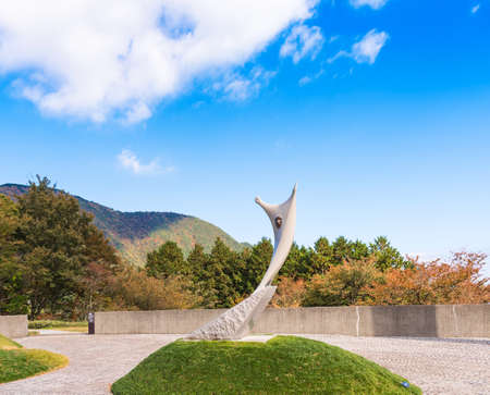 HAKONE, JAPAN - NOVEMBER 5, 2017: Sculpture in the open air museum. Copy space for text Editorial