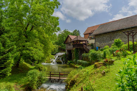 Rastoke village in green nature on Korana river, Croatia