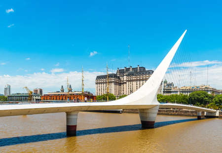 View of the bridge in Buenos Aires, Argentina. Copy space for text 版權商用圖片
