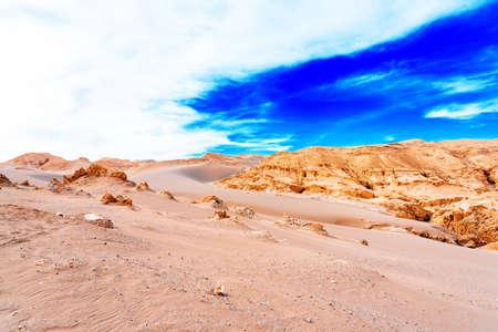 Landscape in Atacama desert, Chile. Copy space for text