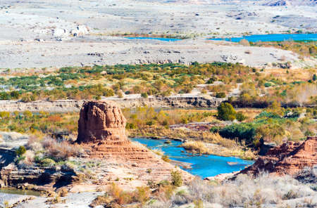 Lake Mead in desert area, Nevada, USA