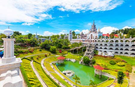 The Catholic Simala Shrine in Sibonga, Cebu, Philippines. Copy space for text Фото со стока