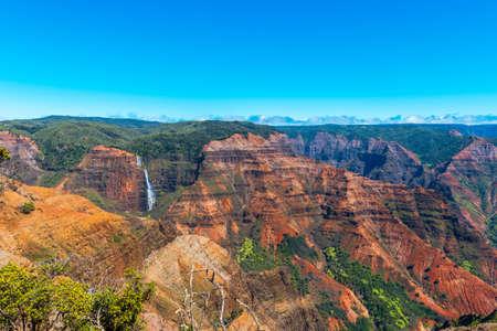 Amazing Waimea canyon in Kauai, Hawaii islands. Copy space for text Stock fotó