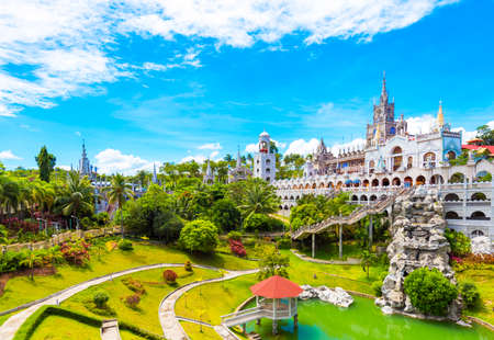The Catholic Simala Shrine in Sibonga, Cebu, Philippines. Copy space for text Stock Photo