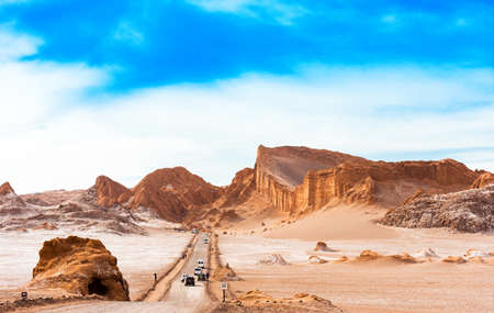 Landscape in Moon Valley, Chile. Copy space for text Stock Photo