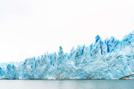 View of the Perito Moreno Glacier, Patagonia, Argentina. Copy space for text
