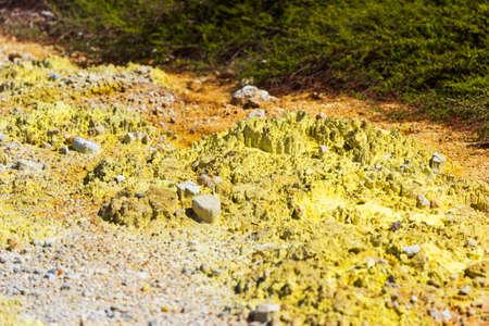 Ground texture in Wai-O-Tapu geothermal area, Rotorua, New Zealand