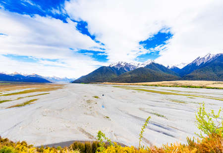 Mountain landscape of the Southern Alps, New Zealand