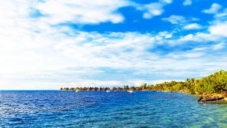 View of the seascape, Bora Bora, French Polynesia