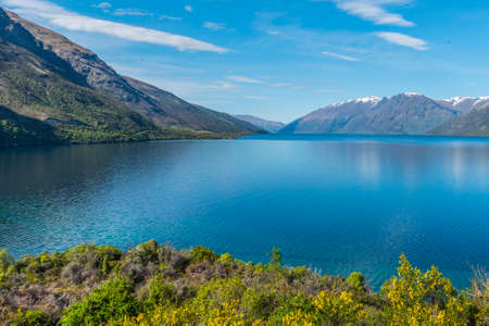 Wakatipu, Queenstown, New Zealand. Copy space for text