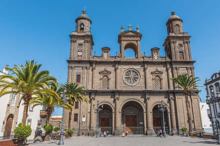 The Cathedral of Saint Ana situated in the old district Vegueta in Las Palmas de Gran Canaria, Spain