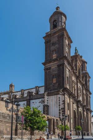 LAS PALMAS DE GRAN CANARIA, SPAIN - MARCH 10, 2019: Vegueta. Vertical Editorial