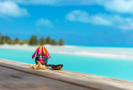 Russian nesting doll and spoon, Aitutaki island, Cook Islands, South Pacific