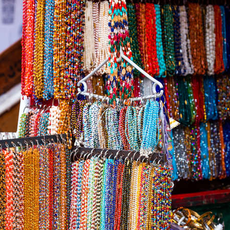 Indian jewelry in the local market, Puttaparthi, India