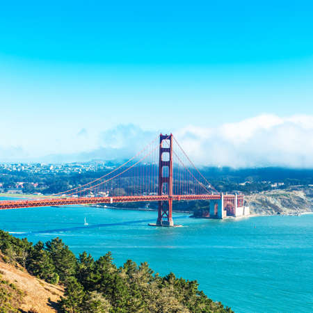 View of The Golden Gate Bridge in San Francisco, USA Stock Photo