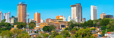 Skyscrapers and city buildings, Asuncion, Paraguay. City landscape