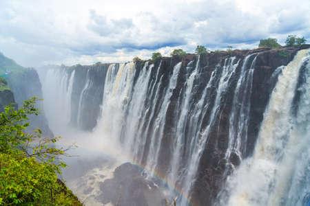 Victoria Falls on the Zambezi River in South Africa