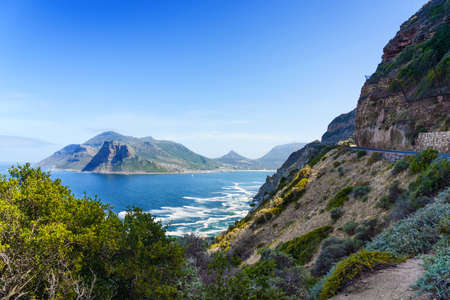 Chapman's Peak in Cape Town, South Africa. Copy space for text. Stock Photo