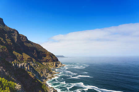Chapman's Peak in Cape Town, South Africa. Copy space for text.