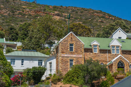 The City Simonstown near Capetown with the Colonial Style Architecture Methodist Church Stock fotó