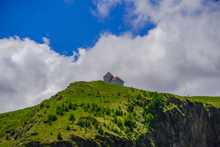 Building at Mount Elbrus In Summer.